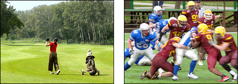 Golf Course and American Football - Ada Ciganlija